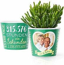 36. Hochzeitstag Geschenk – Blumentopf (ø16cm)
