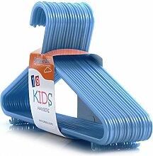 36 Kinder Kunststoff-Kleiderbügel, blau, 29 cm Hangerworld