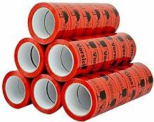 36 Rolle Braun/Transparent/Rot Klebeband Paketband