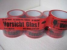 36 Rollen Klebeband Vorsicht Glas 66 lfm lang!