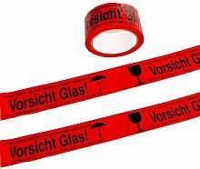 36 Rollen VORSICHT GLAS Paketband Paketklebeband
