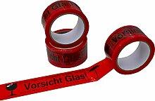 36 Rollen Warnklebeband 'Vorsicht Glas!'