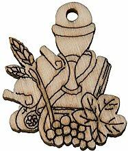 36Stück Kelch Kommunion aus Holz 5cm Dekoration Bonboniere