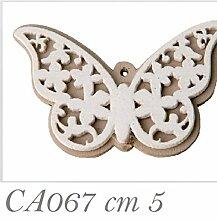 36Stück Schmetterling aus Holz 5cm Dekoration Bonboniere