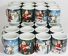 36 Stück Weihnachtstassen Weihnachtsbecher Glühweintassen Glühweinbecher Tassen