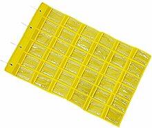 36-Taschen Hängeaufbewahrung Schmuck Organizer Schrank Aufbewahrungsbeutel - Gelb, 60x 90cm