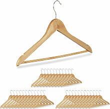 36 x Kleiderbügel, Hosenbügel aus Holz,