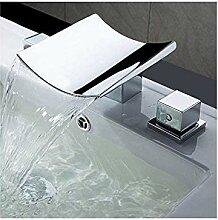 360° Drehbar Wasserhahn Kupfer Waschbecken Drei