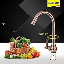 360 ° drehbare Wasserhahn Retro Wasserhahn Küche