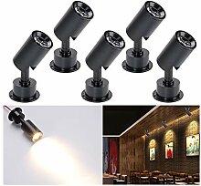 [360 ° drehen] 5 stk Mini LED Einbaustrahler