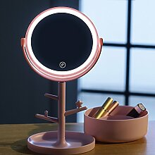 360 ° Kosmetikspiegel mit Lichtern, LED Spiegel