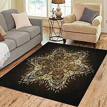 36X24 inch Teppich Mandala Rundes Muster Heilige