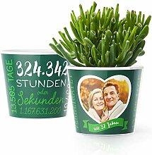 37. Hochzeitstag Geschenk – Blumentopf (ø16cm)