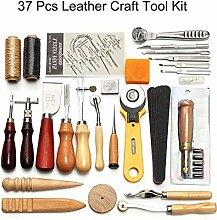 37 Stück Lederhandwerk Werkzeuge, Leder