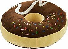 37 X 37 CM Plüsch Donut Kissen Schokoladenkrapfen