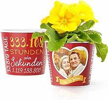 38. Hochzeitstag Geschenk – Blumentopf (ø16cm)