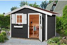 380 cm x 235 cm Gartenhaus Weka Farbe: Anthrazit