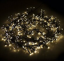 384er LED Cluster Lichterkette mit warmweiß,