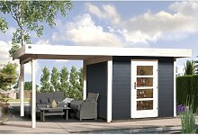385 cm x 300 cm Gartenhaus Weka Farbe: