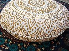 'Traditional Jaipur Bodenkissen in Mandala,
