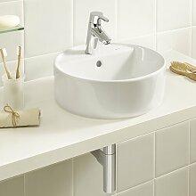 390 mm rechteckiges Aufsatz-Waschbecken aus