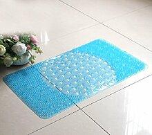 39x66cm Massage Badematte Fußboden-Badewannen-Anti - Skid Pad Dusche Badewanne Fuß Pad Hotel Toilette Toilette Mat ( farbe : Blau )