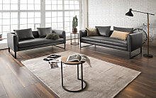 3C Candy Sofa (2 Teile) Echtleder, 204 cm braun