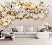 3D 8D Geprägte Blume Schmetterling Wandbild