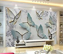3D 8D Geprägte Schmetterling Wandbild Fototapete