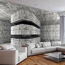 3D abstrakte Raum Zement Wandbild Tapete für