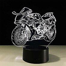 3D Acryl Nachtlicht (Schwarze Basis) USB-Akku