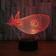 3D Acryl Nachtlicht (Schwarze/Weiße Basis)