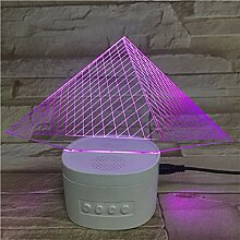 3D Acryl Pyramide Bluetooth Base Touch Control