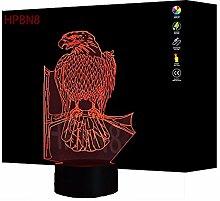 3D Adler Lampe USB Power 7 Farben Amazing Optical