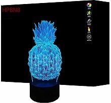 3D Ananas Lampe Nacht Licht USB Power 7 Farben