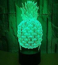 3D Ananas Tischlampe Kreative Ananas Nachtlicht