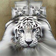 3D Animal Print Bettbezug Kissenbezug