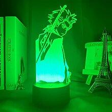 3d Anime Bleach Light Lampe für Schlafzimmer