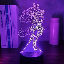 3D Anime Figur Lampe Genshin Impact Fischl LED