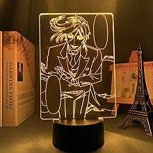3D Anime Lampe Black Butler für Schlafzimmer