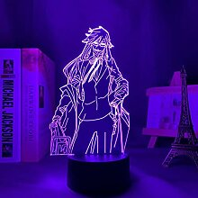 3D Anime Lampe Black Butler Grell Sutcliff Led
