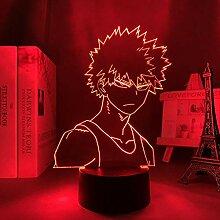 3D Anime Lampe Led Light My Hero Academia Bakugo