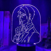 3D Anime Lampe Licht Black Butler Led Nachtlicht