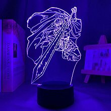 3D Anime Lampe Manga Berserk Guts Figur für