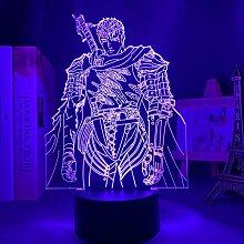 3D Anime Lampe Nachtlicht LED Licht Berserk Guts