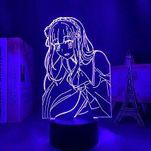 3D Anime Lampe Nachtlicht Licht Re Zero Start