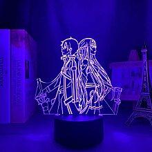 3D Anime Lampe Nachtlicht Schwert Kunst Online