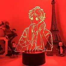 3D Anime Nachtlicht Illusion Haikyuu Sugawara