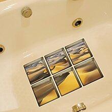 3D Antirutsch Badewanne Aufkleber, Netspower 6pcs 13x13cm Wasserdicht Selbst Klebstoff Badewanne Aufkleber Sticker 3D Muster-Drucken - Farbe 10