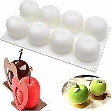 3D-Apfelform antihaftbeschichtet Silikon Kuchen